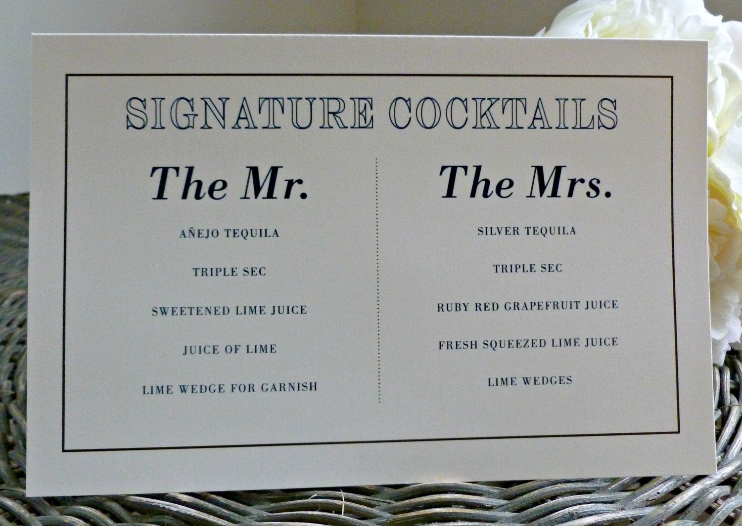 Want To Have Signature Cocktails The Mr The Mrs Wedding