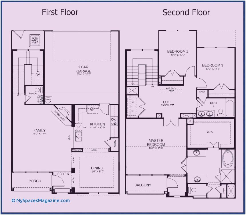 Two Storey House Plan With Balcony 4 Bedroom Two Storey House Plans House Plans Bungalow House Floor Plans Small House Blueprints