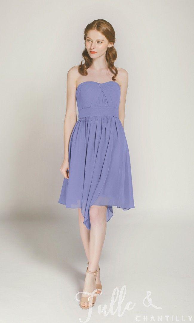 Short Convertible Bridesmaid Dress TBQP177P | Charcoal bridesmaid ...