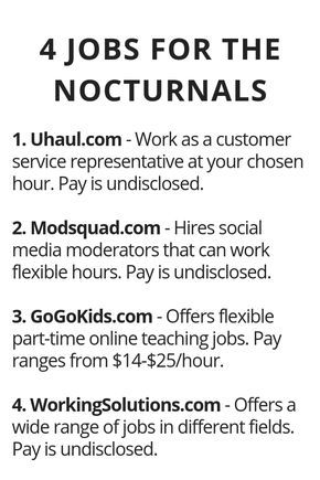 4 Work at Home Jobs for Night Owls