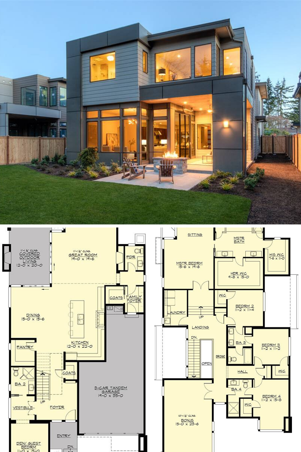 Two Story 4 Bedroom Sunoria Contemporary Style Home Floor Plan Modern Exterior House Designs Best Modern House Design Modern Architecture House