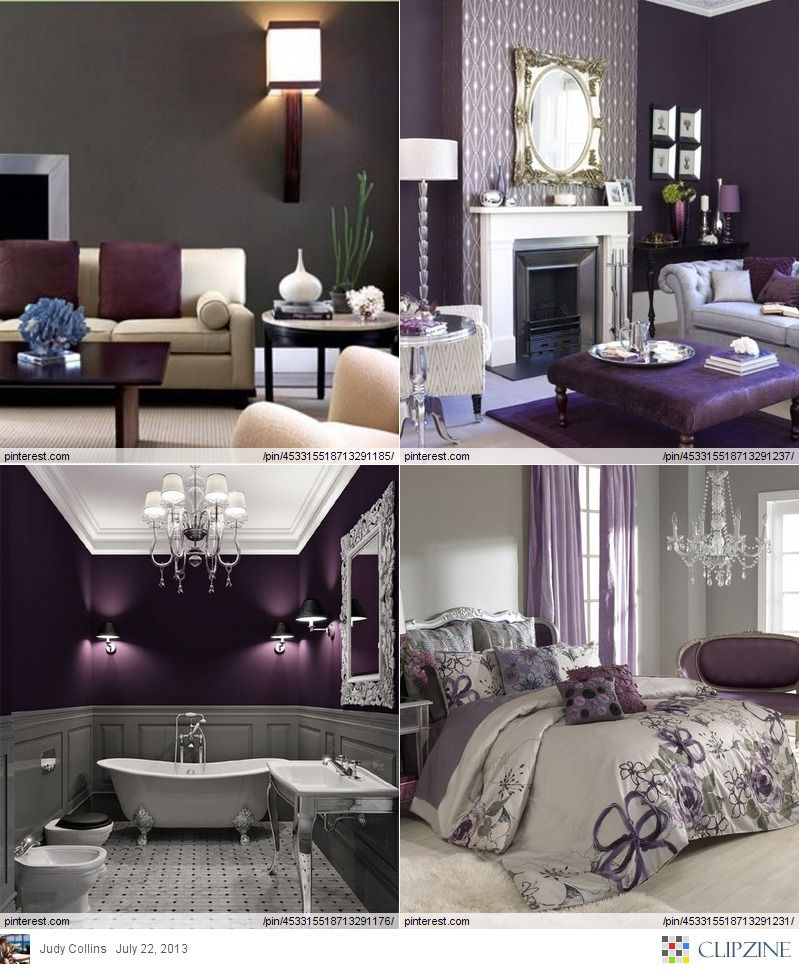 Home Design Color Ideas: Colors Gray + Eggplant