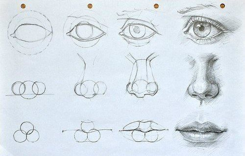 Photo of Learn to draw eyes, mouth and nose. Check out this guide. This is se – Drawing Techniques – Water