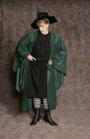 $25.00 Costume Rental Professor McGonagall green velvet robe ...