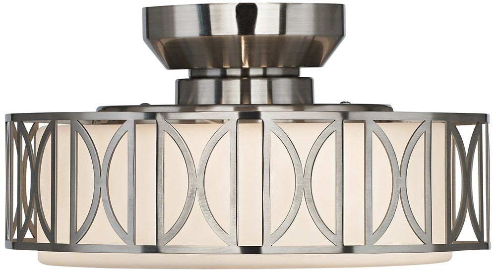 Deco Brushed Nickel Finish Pull Chain Ceiling Fan Light Kit