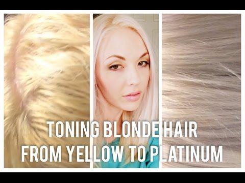 Diy Toning Blonde Hair From Brassy To Platinum At Home Youtube