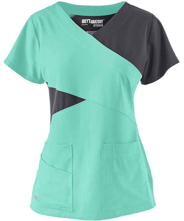 Shown In Opal W Graphite Greys Anatomy Scrubs Signature Stretch
