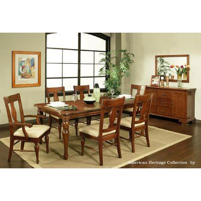 Merveilleux AYCA Furniture American Heritage 7 Piece Dining Set