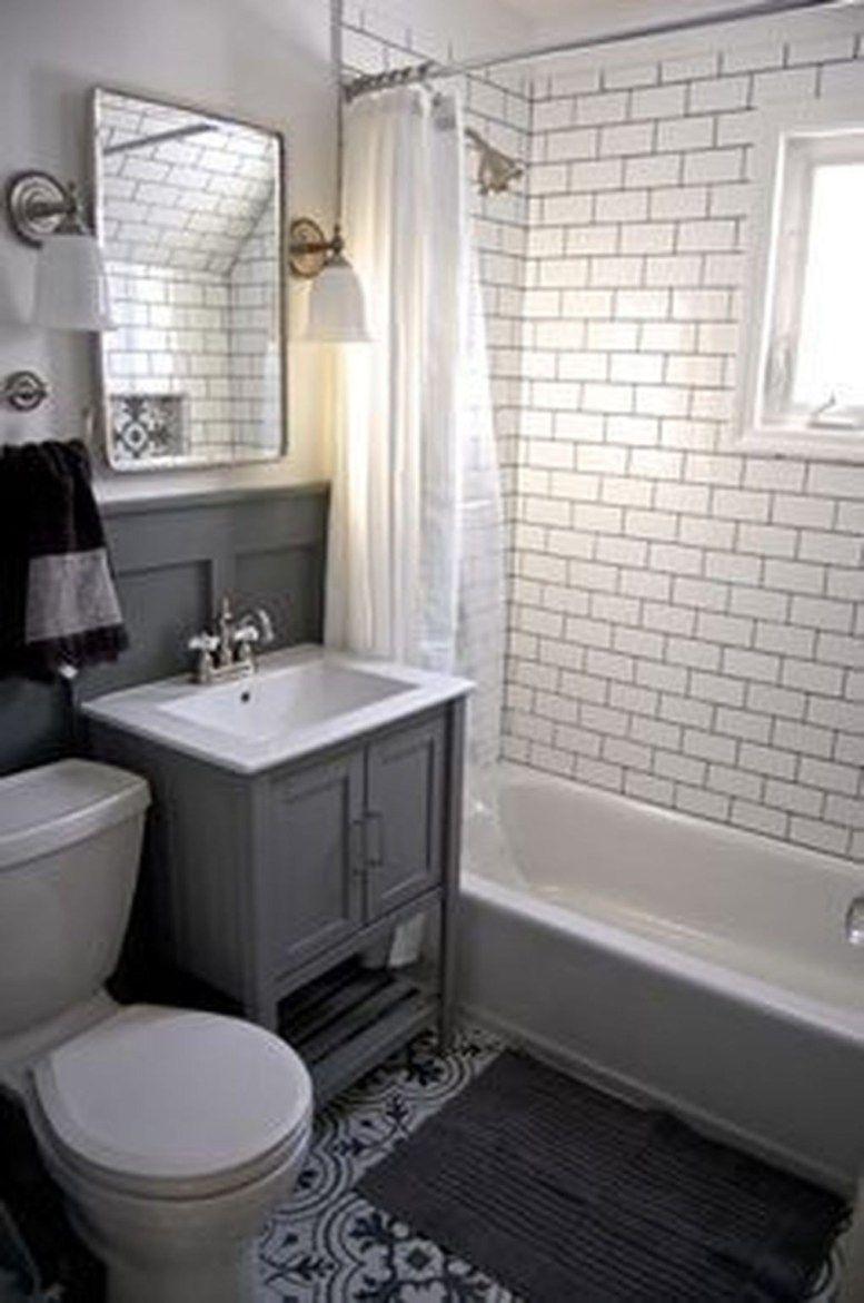 Popular Small Bathroom Remodel Ideas 35 Pimphomee Small Bathroom Inspiration Bathrooms Remodel Small Bathroom