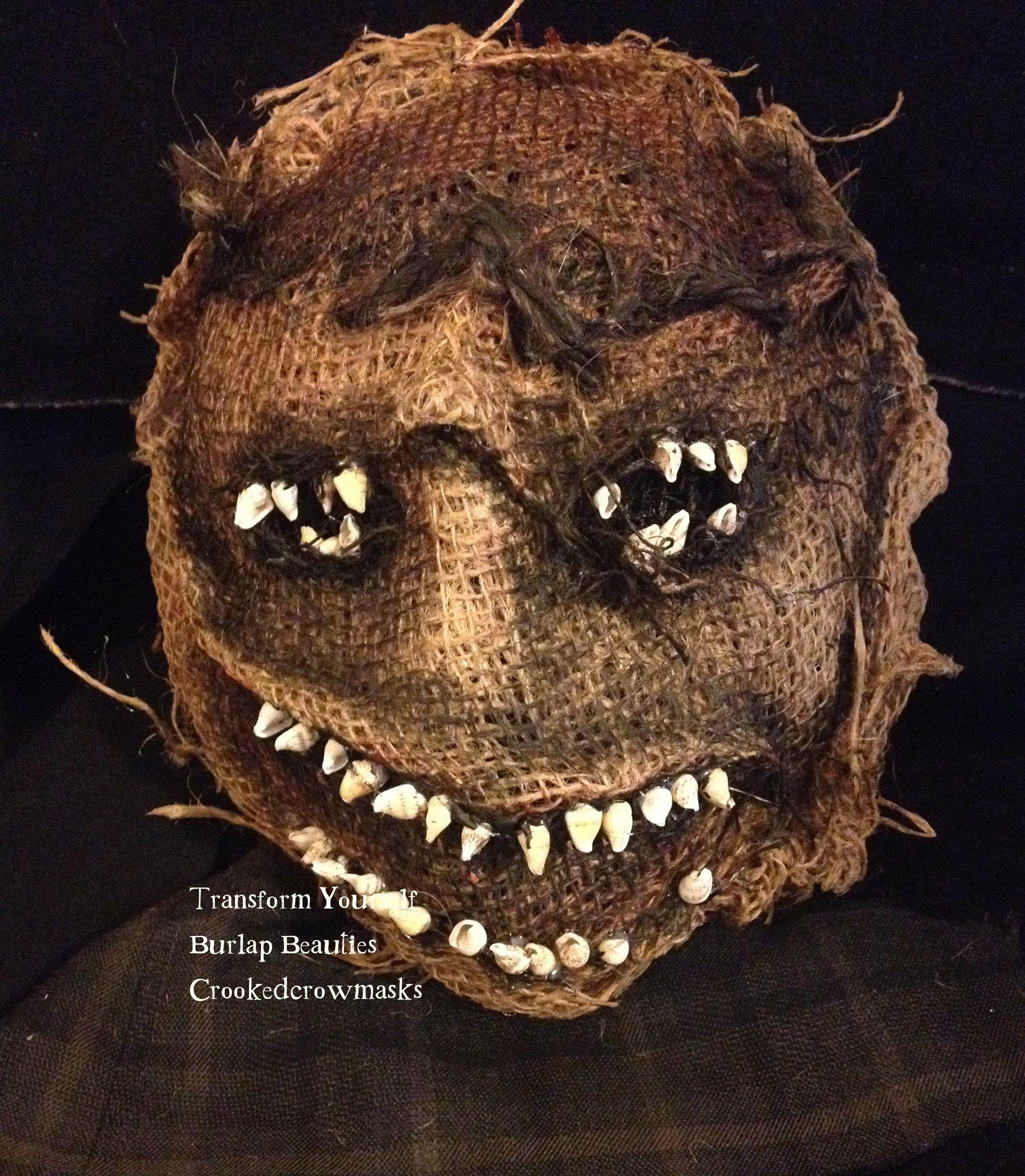 Creepy Mask Burlap Beauties Caras pintadas, Monstruos