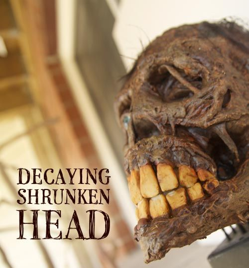 How To Make A Decaying Shrunken Head. (Go To Site