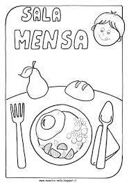 Risultati immagini per  mangio e non mangio a scuola infanzia da colorare