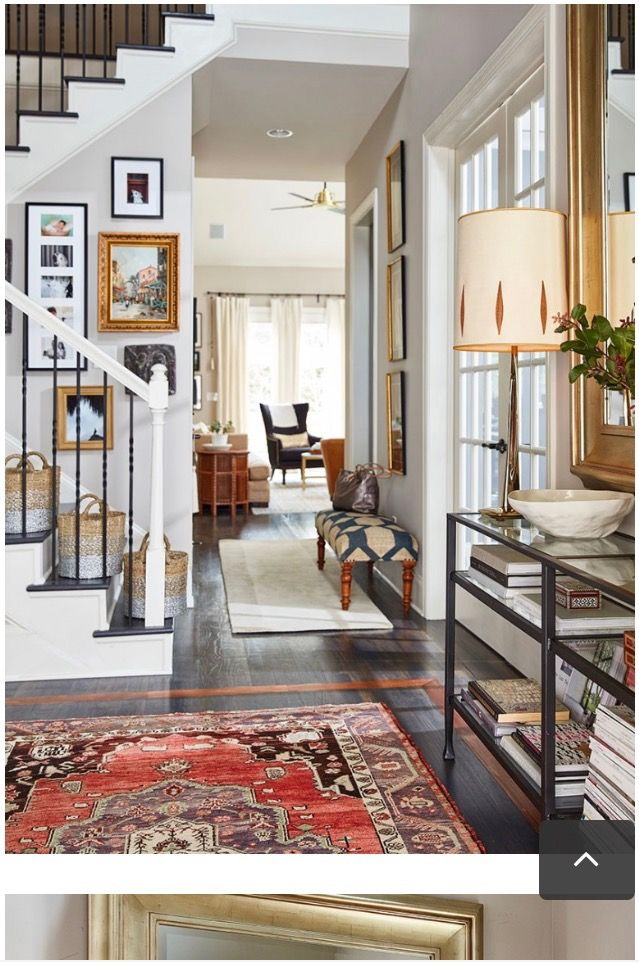 love mixing different types of rugs in the same spaces on different types of interior walls id=73049