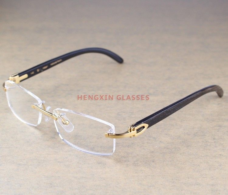 Find More Eyewear Frames Information about Branded Eyeglasses Rimless Eyeglasses with Black Natural Horn Frames /Vintage Eyewear with Top Grade Quailty /Read Glasses,High Quality eyeglass strap,China eyeglass Suppliers, Cheap eyeglass manufacturer from HengxinGlasses Store on Aliexpress.com
