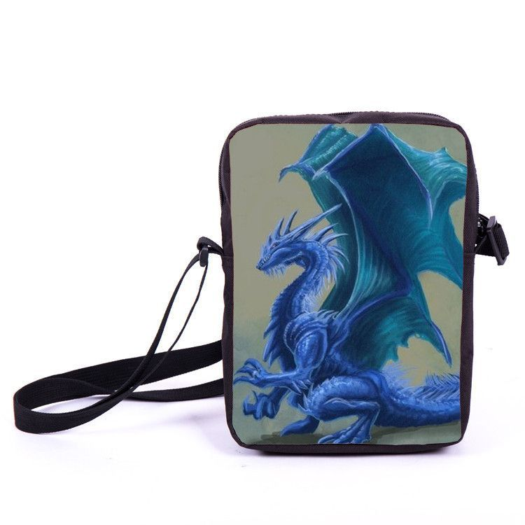 Kids Mini Messenger Bag Magic Dragon Prints Bag Boys Girls Crossbody Bags Children School Bags Bookbag For Snacks Best Gift