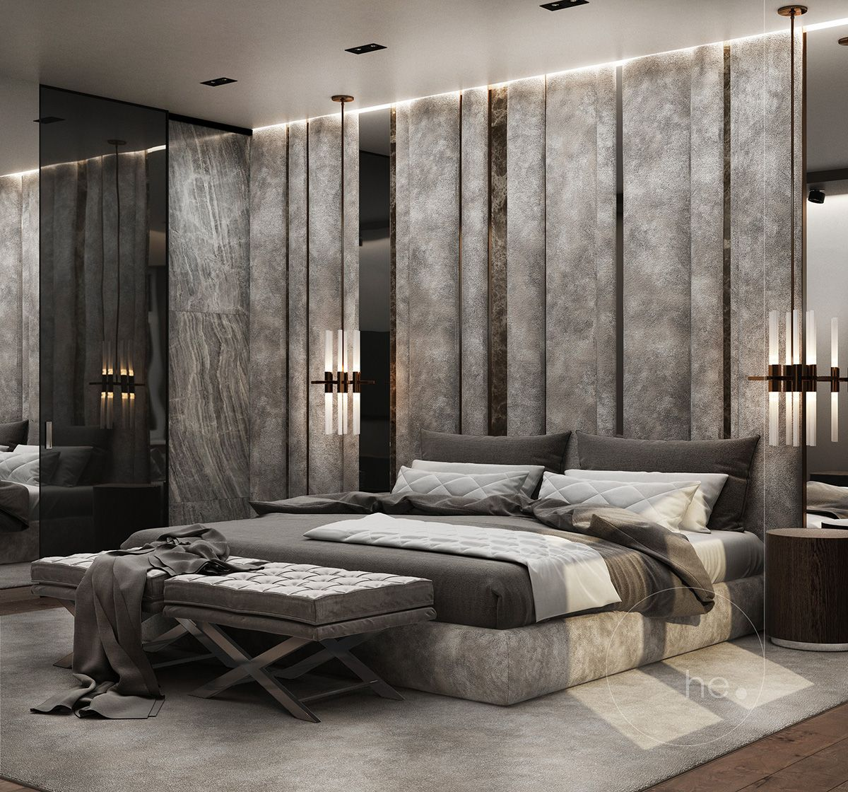 Bed Designs 2017 Interior Design Of Contemporary Classic Bedroom By He D Group