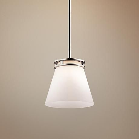 Kichler Hendrick 8 Wide Brushed Nickel Mini Pendant 6k994 Lamps Plus Lamps Plus Pendant Light Fixtures Kitchen Island Lighting Pendant