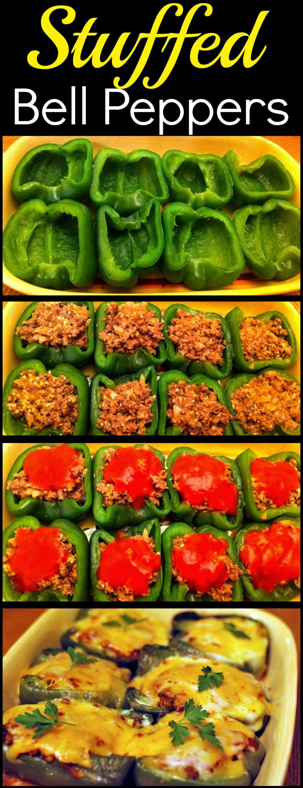 Stuffed Bell Peppers | Aunt Bee's Recipes #stuffedbellpeppers