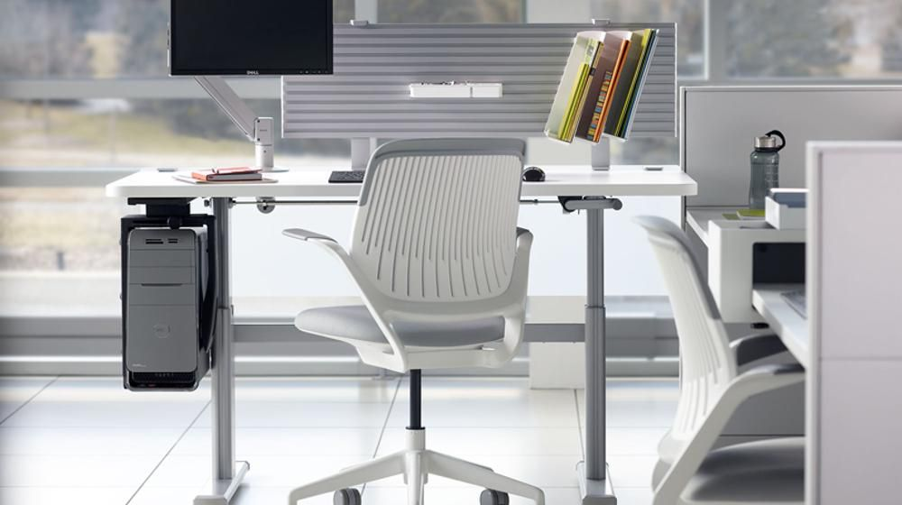 Cpu Holders And Stands By Details A Steelcase Company Steelcase Furniture Adjustable Height Table Office Furniture Solutions