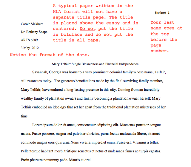 Title Page Formats  Essay Examples Apa Style And Teacher