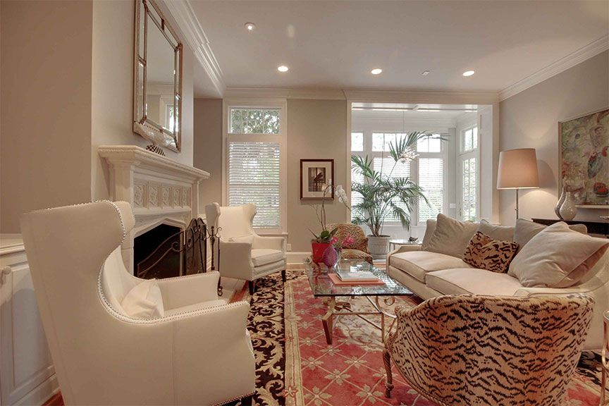 A stunning sitting room from Atlanta's Druid Hills Tour of Homes
