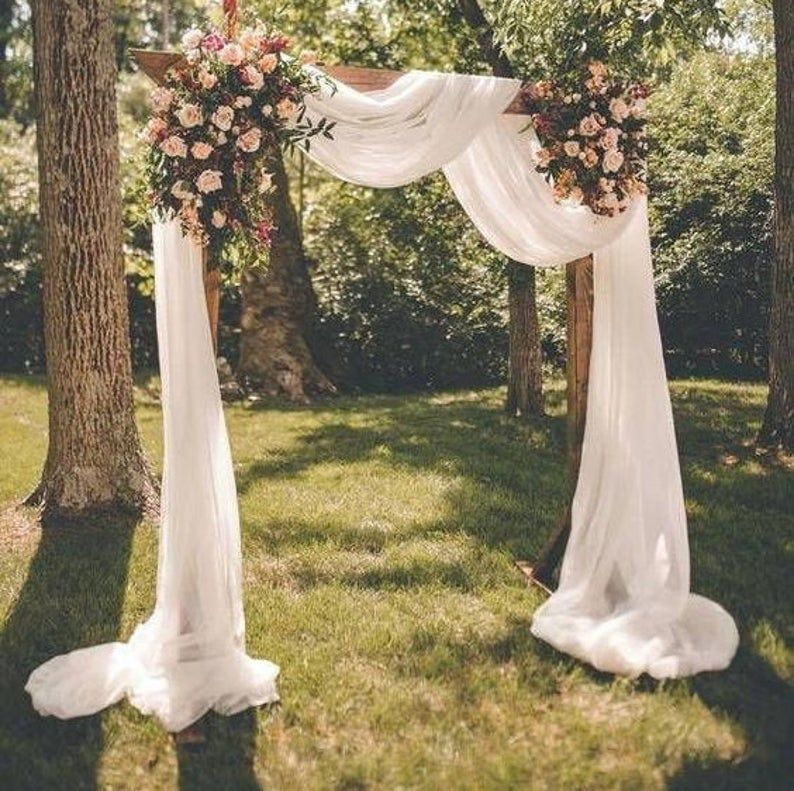 Wedding Arch Fabric Drape Chiffon Draping Fabric For Wedding Backdrop Photography Background Wedding Arch Or Tree Decor In 2020 Wedding Arch Wedding Archway Outdoor Wedding Decorations