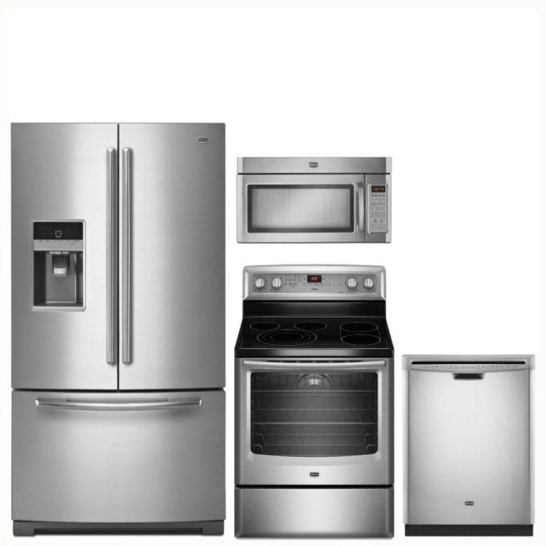 Samsung Sareradwmw10483 4 Piece Kitchen Appliances Package With French Door Refrigerator Gas Range Dishwasher And Over The Range Microwave In Black Stainless In 2020 Kitchen Appliances Kitchen Appliances Deals Kitchen Appliance Packages