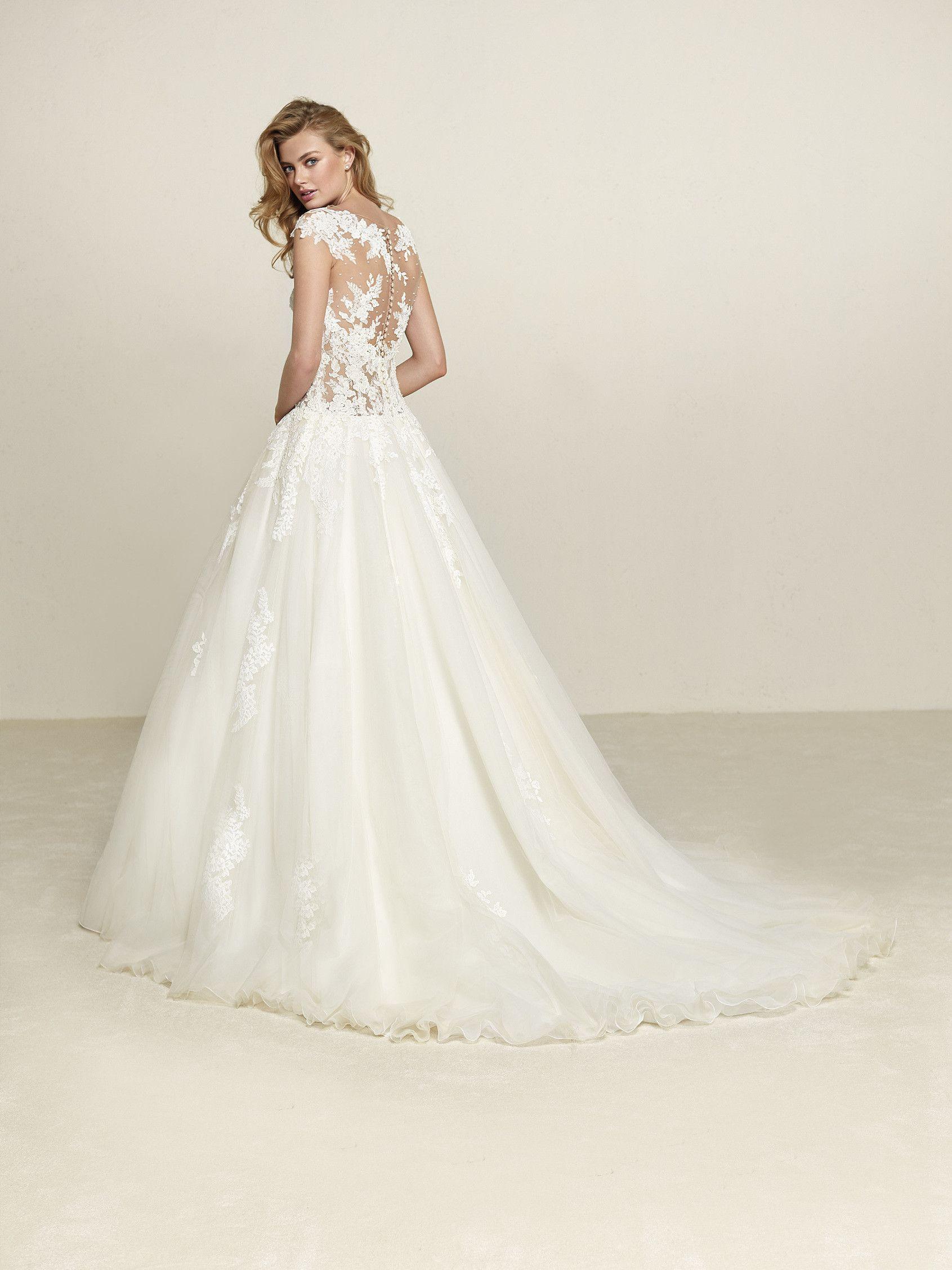 Brautkleid Prinzessin-Stil Tüllpasse | Hochzeitskleid | Pinterest ...