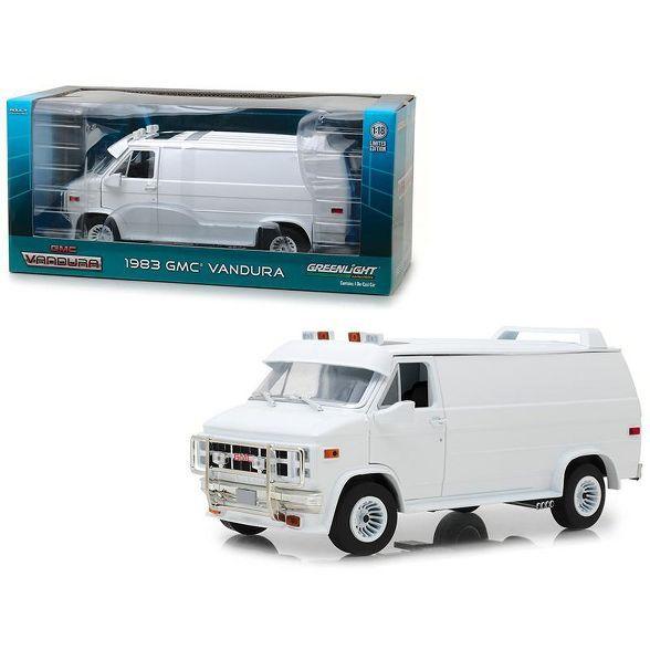 1983 GMC Vandura Custom White 1/18 Diecast Model Car By Greenlight : Target