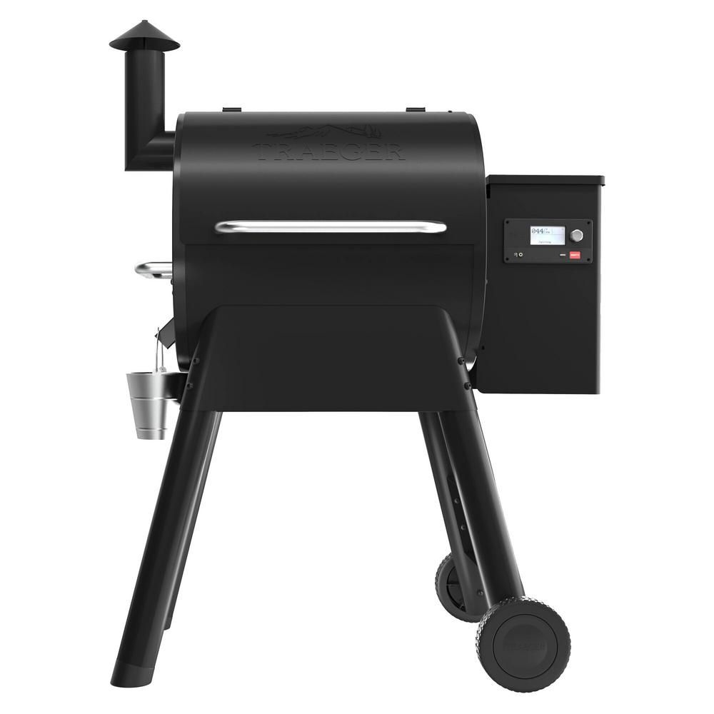 Traeger Pro 575 Wifi Pellet Grill And Smoker In Black Wood