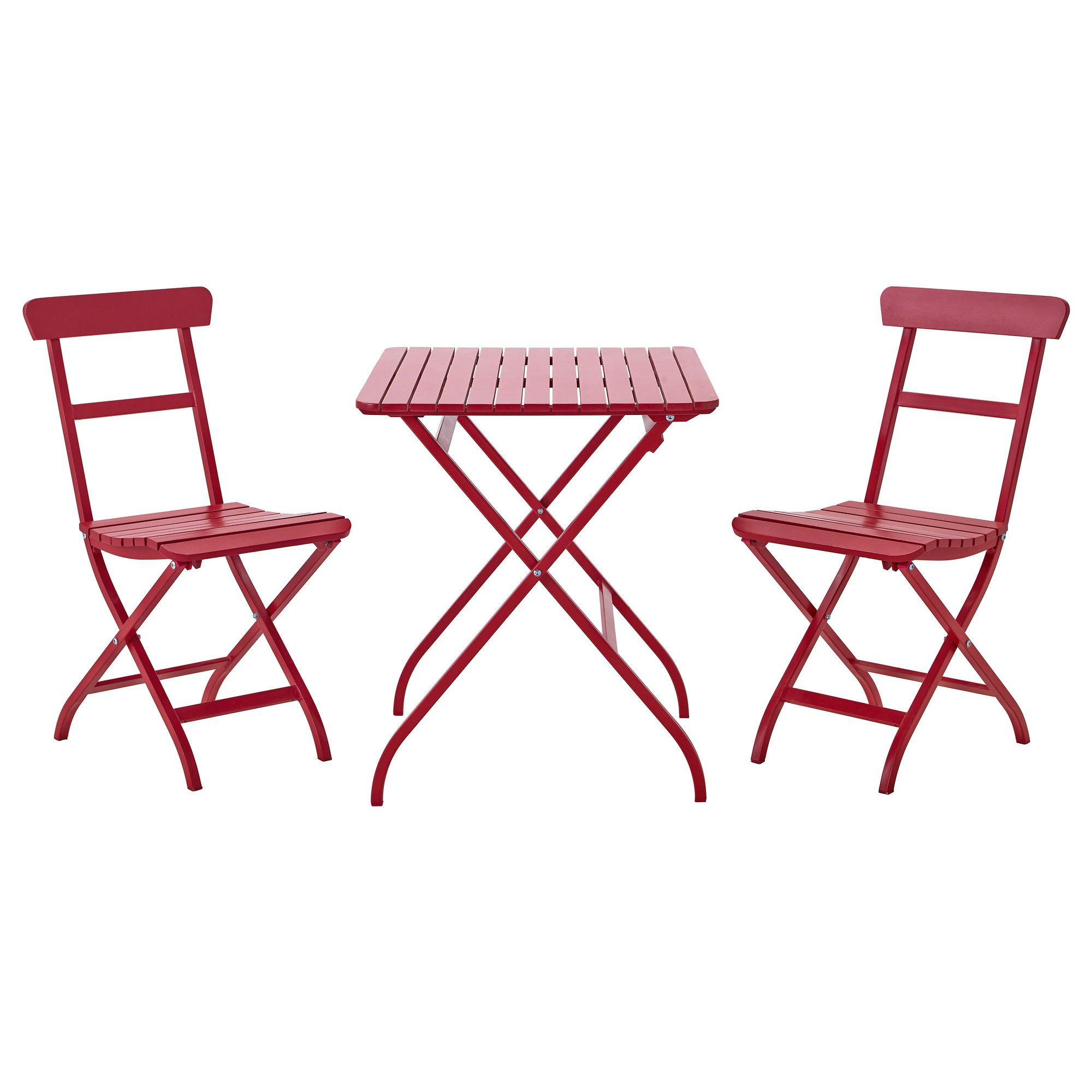 MÄlarÖ Table And 2 Folding Chairs Red Ikea
