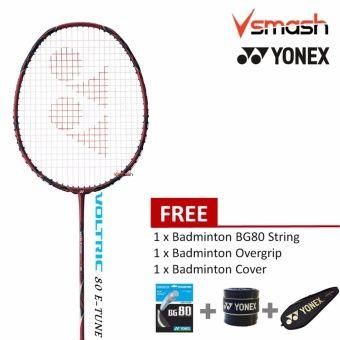 Yonex Voltric 80 Etune 4u Deep Red Badminton Racket Package Badminton Badminton Racket Deep Red