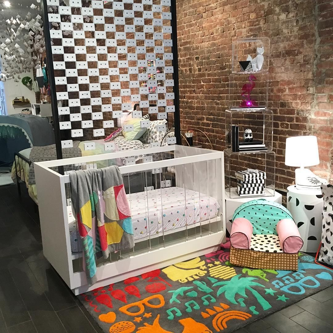 We have a thing for acrylic here at Nod. We're excited to introduce our new acrylic crib and rotating acrylic bookcase. And we can't forget that new ice cream mini Nod chair designed by @theindigobunting. #nodspring16