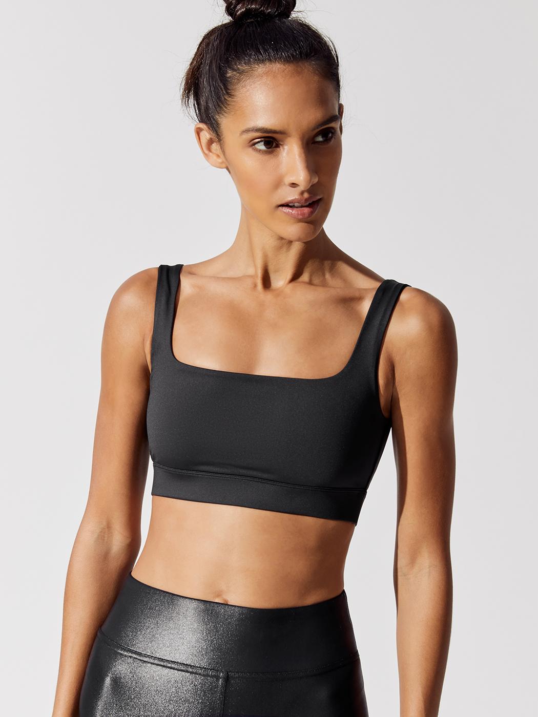 03939df81c44d Carbon38 BASKET WEAVE X-BACK BRA - Black - Fashion Activewear Running -  Black
