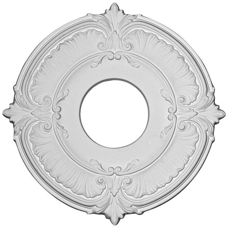 Attica 12 34 wide primed round ceiling medallion
