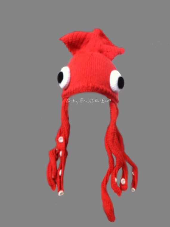 8f75866a5d6 Giant Squid Hat. Knit   Crochet Pattern.