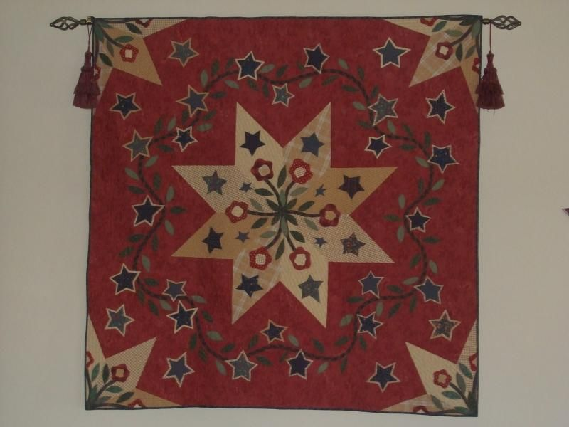 One of my favorite quilts...Brookshire Star, from www.hallbrookdesigns.com