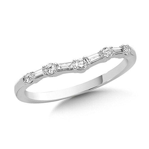 1eb96dcf1b87c Pin by Megan Young on Accessories | Baguette diamond wedding band ...