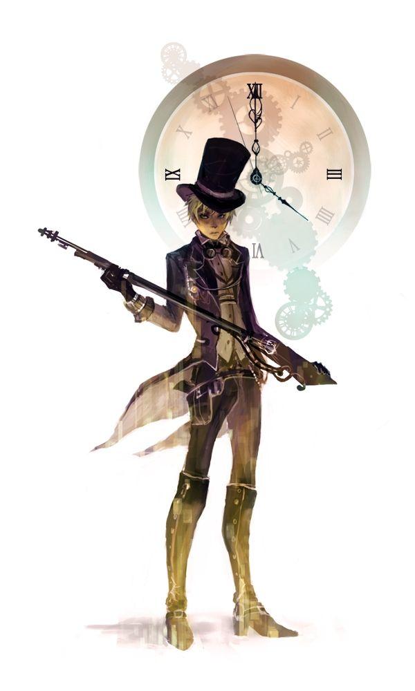 Hakuku Axis Powers Hetalia United Kingdom Top Hat Steampunk