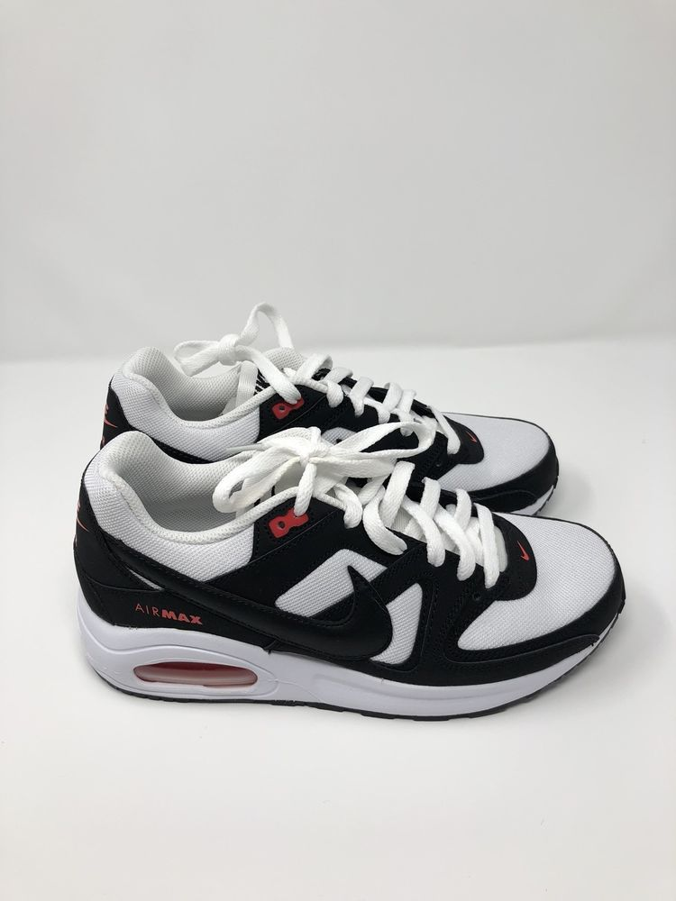 Nike Air Max Command Flex (GS) 844346 100 White Black Orange