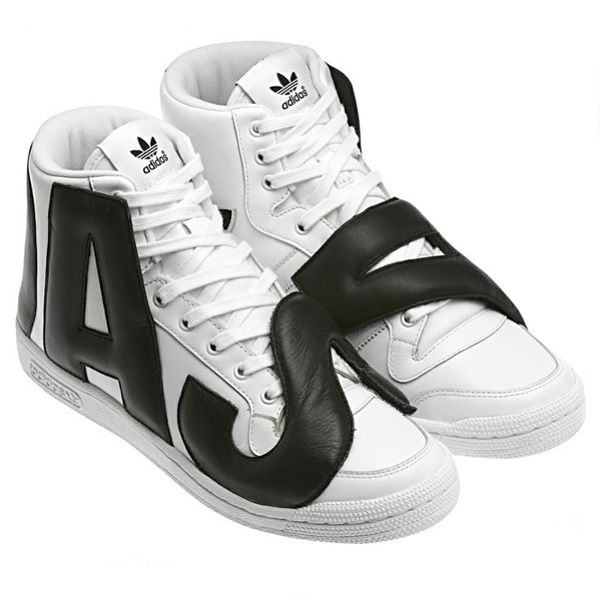 san francisco 0cd29 f09f1 Adidas ObyO X Jeremy Scott JS P-Letters Sneakers