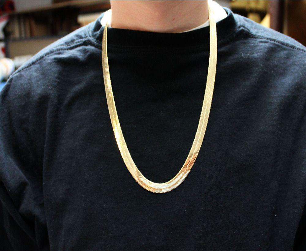 fffa73f42e400 Large Herringbone Chain | Men's Style in 2019 | Jewelry, Chain ...
