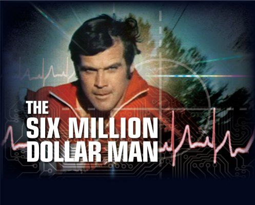 The Six Million Dollar Man is an American television series about a former astronaut with bionic implants working for the OSI government office Starring Lee Majors Richard Anderson Martin E. Brooks January 18, 1974 – March 6, 1978 A Spinoff called the Bionic Woman came out of this show.