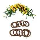 Photo of Thanks Giving Artificial Sunflower Wreath DIY Kit Rattan Vine Ring #Holiday
