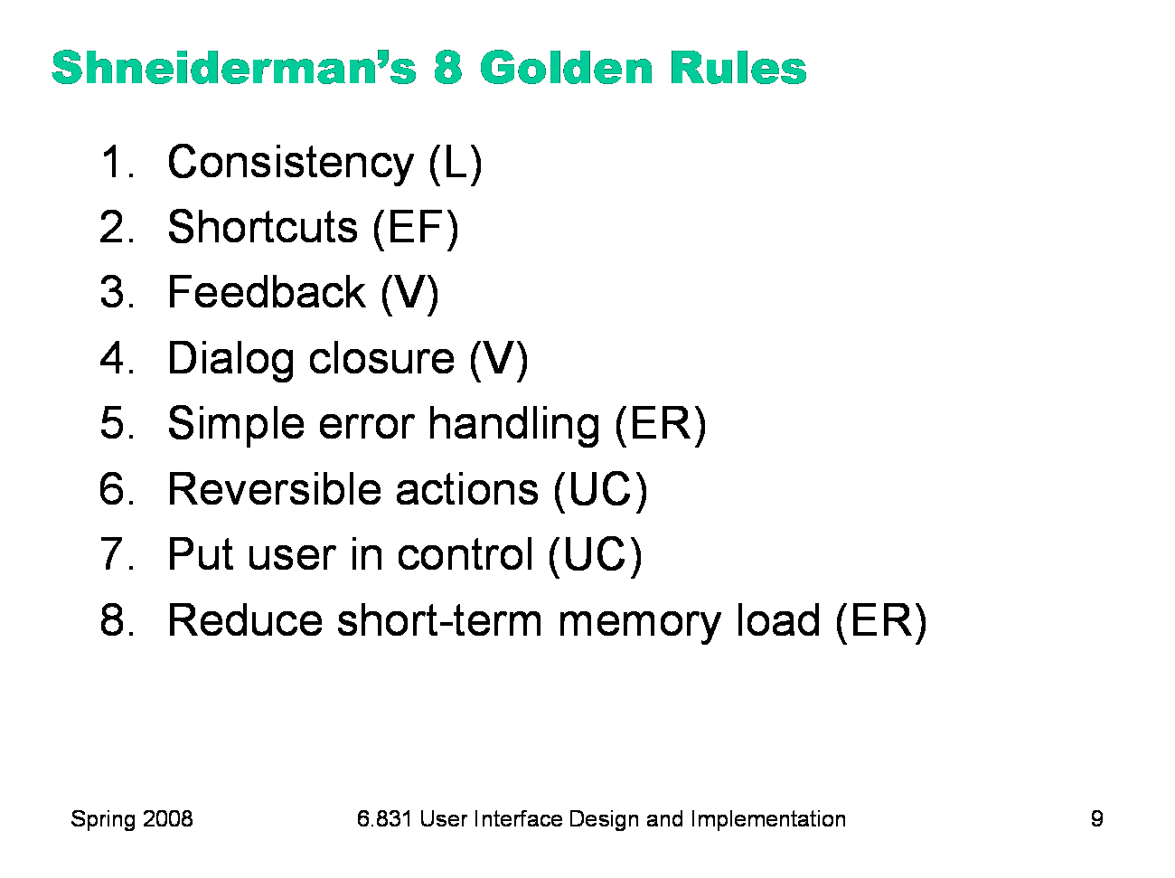 The Eight Golden Rules Of Interface Design