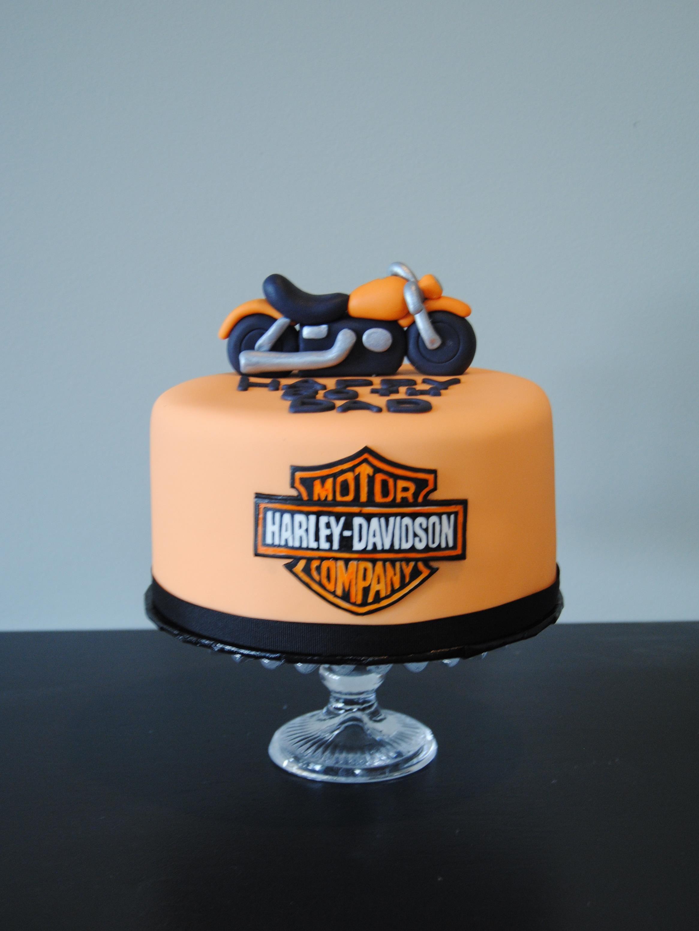 Harley Davidson Birthday Cake From The Handmade Cake Company Cakes