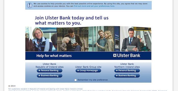 Ulster Bank Sign In Ulster Signs Republic Of Ireland