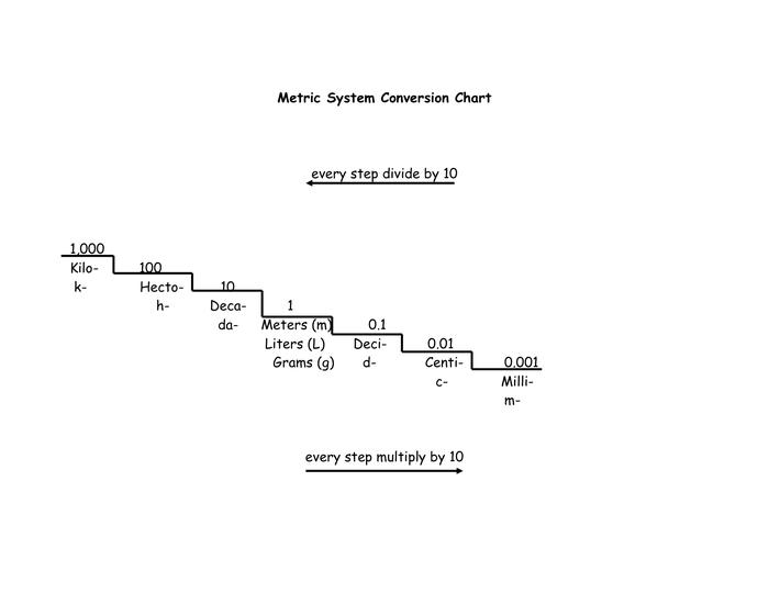 Metric System Conversion Chart Teaching Math Metric System