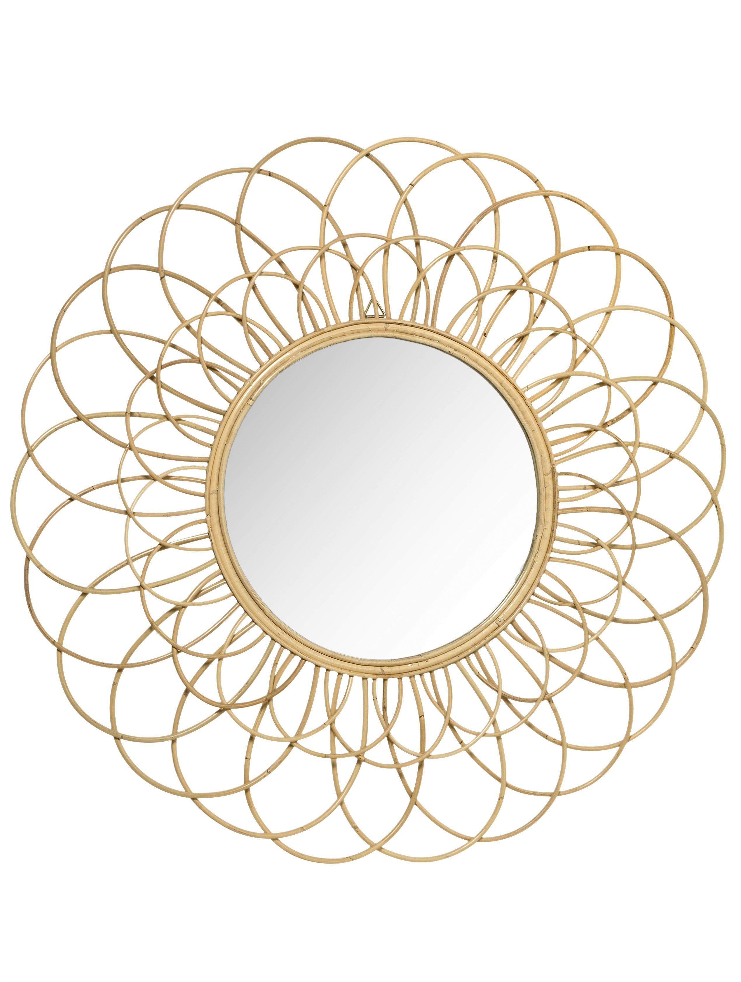 Goldener Wand Spiegel Wandspiegel Spiegel Sonnenspiegel