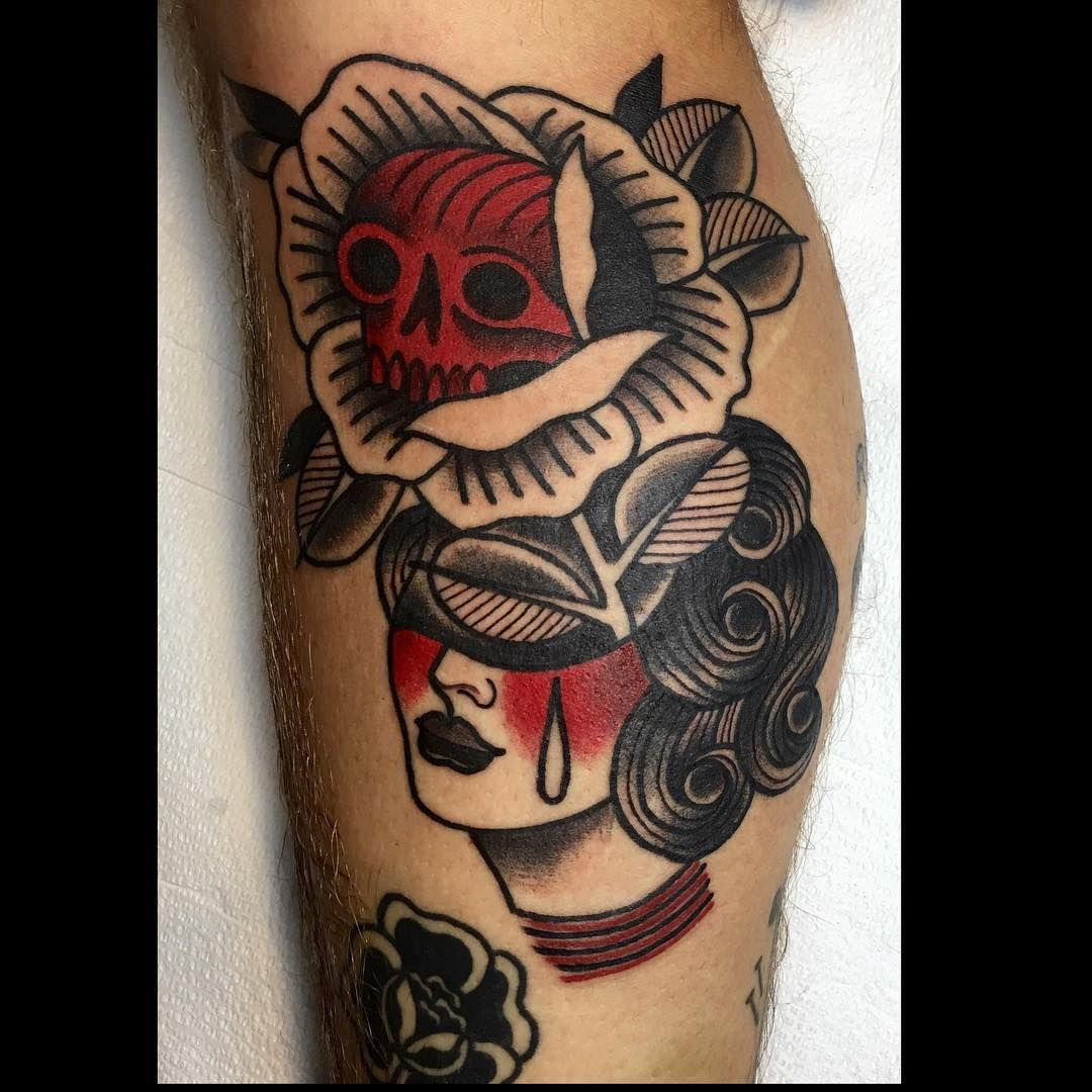 Allie Marie On Instagram Rad Babe Tattoo Tattoos Revolutiontattoo Chicagotattooshops Chicagotatto Traditional Tattoo American Traditional Tattoo Tattoos